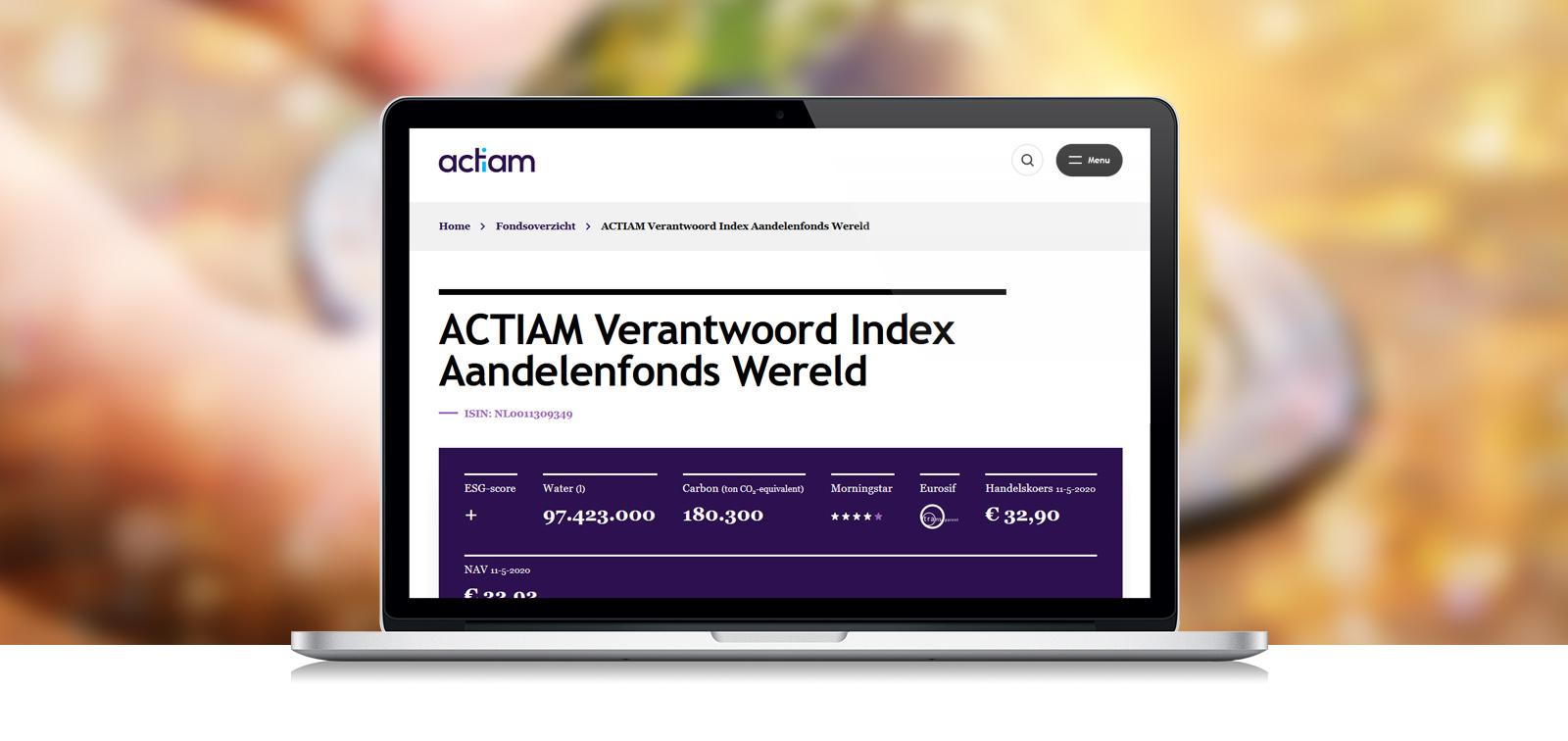 ACTIAM verlaagt kosten indexfondsen
